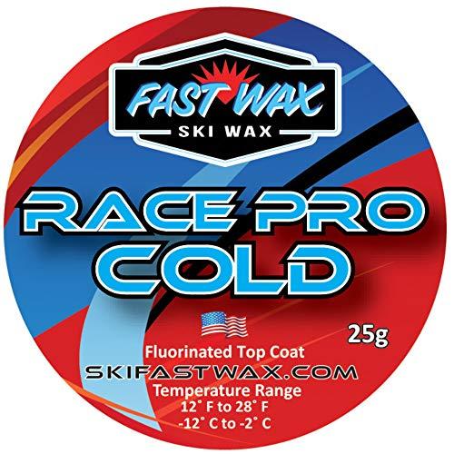 Fast Wax – Casaco de cera de fluorocarbono Race Pro Cold – Pasta de revestimento de cera de topo fluoro – Feito nos EUA