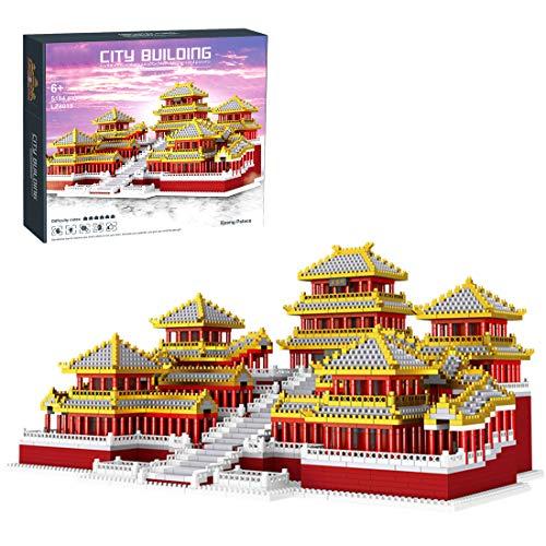 NFtop Architecture Dynastie-Palast Modular Building Set, Modular Haus Bauset, Nicht mit Lego Architektur Kompatibel - 5184 Teile