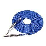 Socobeta Cable estéreo Macho a Macho Cable de Audio estéreo Macho a Macho de 6,35 mm para Mezclador de Guitarra eléctrica estéreo(3M)
