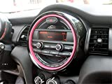 HDX Air Vent Dashboard Cigarette Lighter USB Panel Cover Trim Cap for Mini Cooper F54 Clubman F55 Hardtop F56 Hatchback F57 Covertible F60 Countryman (6.6' Screen Display, Pink)