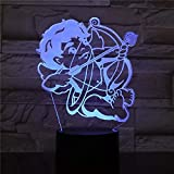 Neon Lights Bar 3D Angel Cupido Lámpara Visual Led Night Light 16 Cambios de Color 3D LED Lights Regalo de cumpleaños Navidad