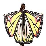 INS人気! Eldori 人気 女性 ショール マント バレンタインデー プレゼント ケープ 肩掛け 蝶柄 ショール バタフライショール 肩マント フリーサイズ スカーフ肌触り抜群 蝶みたい 本物そっくり Women Butterfly Wings Shawl Scarves Ladies Nymph Pixie Poncho Costume Accessory (H)