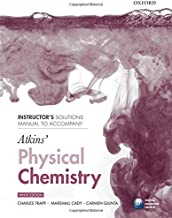 By Marshall Cady, Carmen Giunta C Instructor's Solutions Manual to Accompany Atkins' Physical Chemistry (9th Revised edition)
