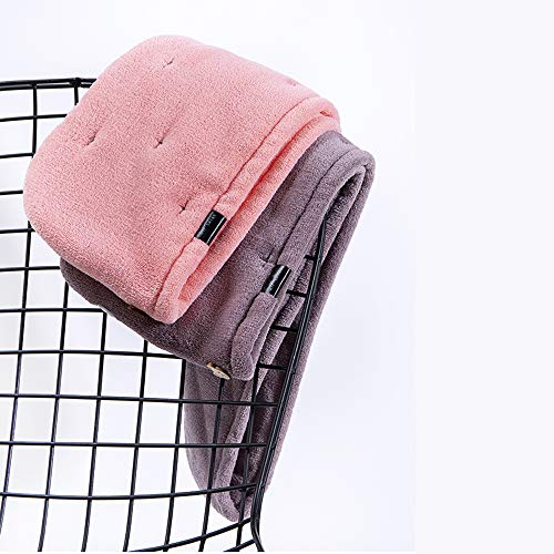 Guoc Hair Turban Towel,Drying Hair Cap,Microfiber Hair Soft Towel Bath Head Wrap Turban Hair Drying Towels With Buttons Loop Twist Quick Drying Hair Hat