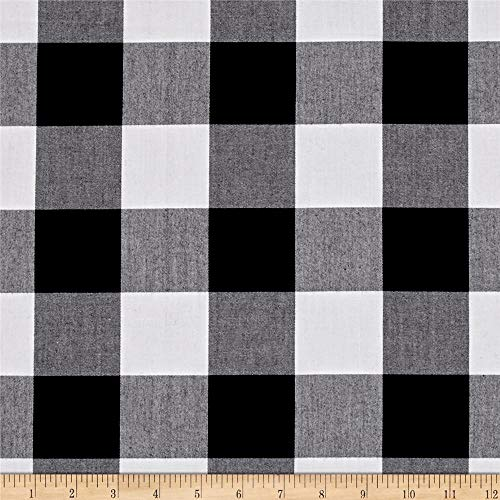 "Robert Kaufman Kaufman Carolina Gingham 2"", Yard, Black"
