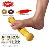 Perfect Magnets Wooden Foot Acupressure Massager Pointed Spiked Single Roller (12 -Inches)
