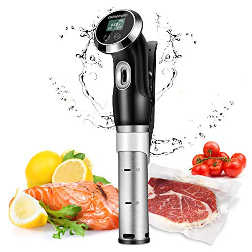 REDMOND Sous Vide Machine,Accurate Immersion Circulator Precision Cooker 1000W, Ultra Quiet Stainless Steel,Free Recipes Included,SV002