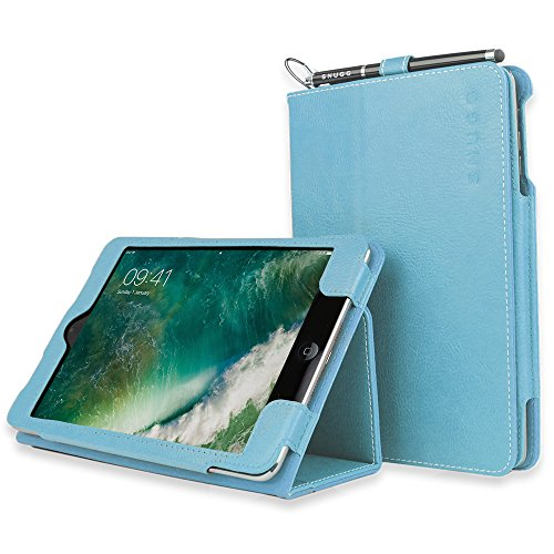 Snugg iPad Air 2 BabyBlue Leather Smart Case Cover Apple Protective Flip Stand Cover