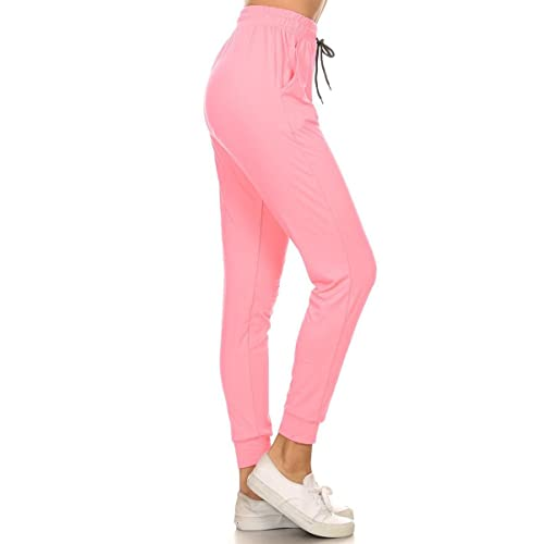 21880876f577a7 Leggings Depot Women s Printed Solid Activewear Jogger Track Cuff  Sweatpants Inner Pockets