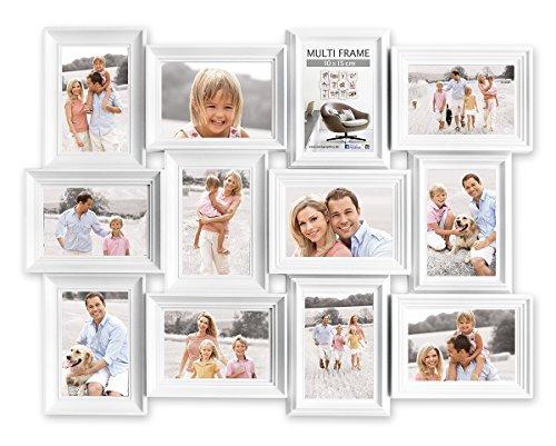 Eurographics Multiframe II-12 White Collage-Bilderrahmen, Holz, weiß, 57.5 x 73.5 x 2.6 cm