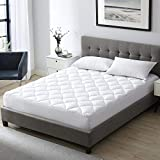 EXQ Home Mattress Pad Full Pillow Top Mattress Cover with Down Alternative Fill,Organic Cotton Overfilled Mattress Toppers for Full Bed (Deep Pocket up to 21 Inches)