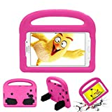 Kids Case for Samsung Galaxy Tab 8.0' SM-T330/T375/T377/T380/T385/T387, Cookk Light Weight Shockproof Handle Unique Kickstand Protective Universal Cover Children, Pink