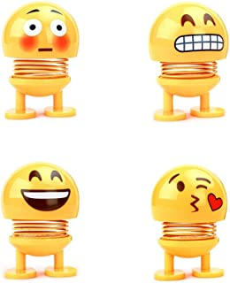 AGUIguo Dancing Toy,4pcCute Emoticon Package LED Creative Personality Powered Bobblehead Dancing Doll, Car Decor (D)