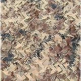 Tela Camuflaje Sombra - Toldo Vela Camo Netificación Para La Fotografía Antien Aérea Greening Camuflaje Decoración Sombrilla Fácil Instalación Color Del (Size:3x3m/9.8x9.8ft,Color:Color del desierto)