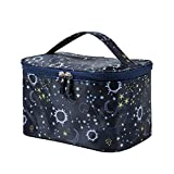 HOYOFO Makeup Bag for Women Large Cosmetic Bags with Handle Waterproof Toiletry Storage Bag Make up Bag Travelling, Starry Sky