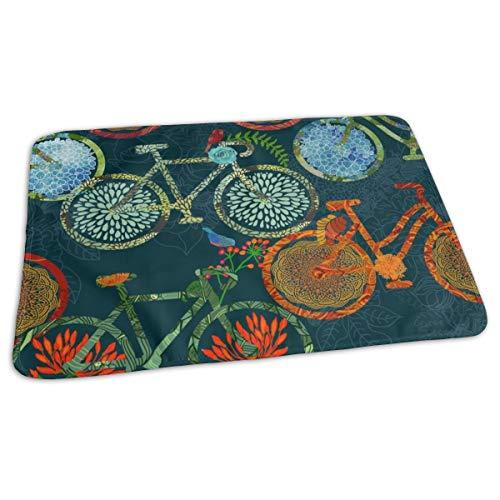 Fiets Blooms U Vogels Bed Pad Wasbaar Waterdichte Urine Pads voor Baby Peuter Kinderen en Volwassenen 27.5 x19.7 inch