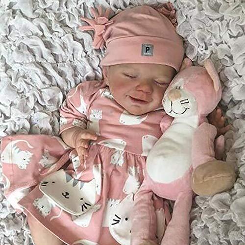 CJF Muñecas renacidas MuñEca ReciéN Nacida Hecha A Mano Silicona Cuerpo Completo Realista Hechos a Mano recién Nacido bebés bebés niño Dolling Doll Regalos