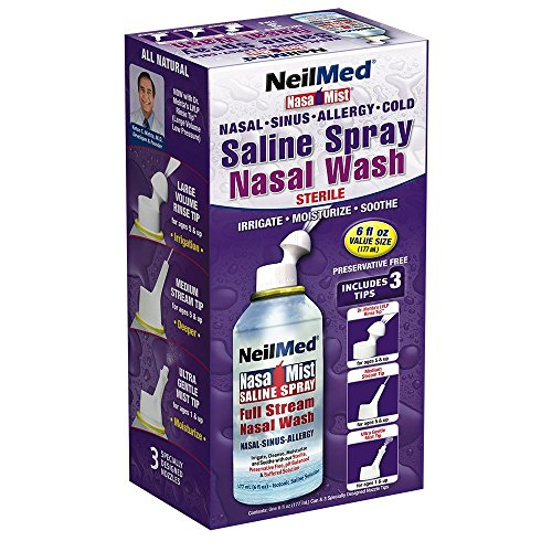 NeilMed NasaMist Saline Spray 6 oz (Pack of 10)