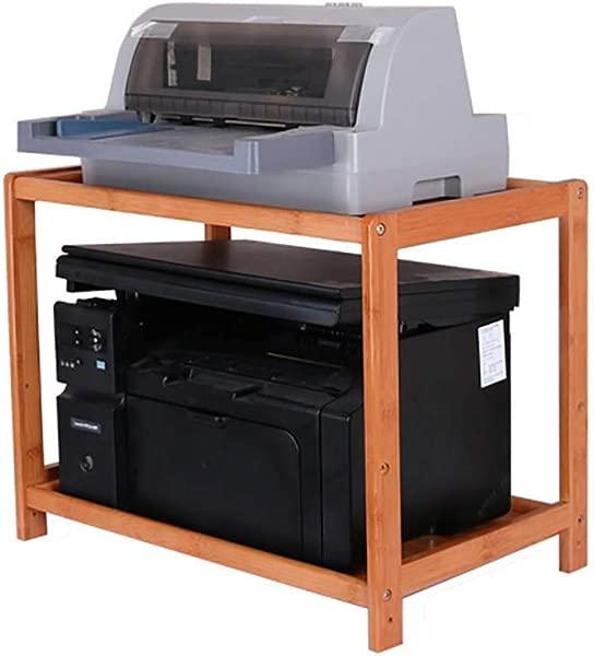 WLG Printer Storage Rack Mobile Office Desk Multi Layer Copier Shelf Solid Wood Cabinet 703240cm