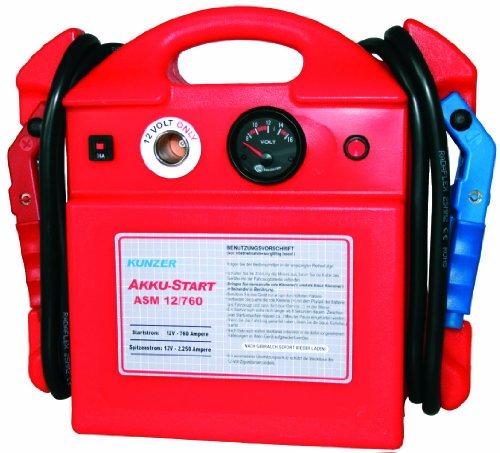 KUNZER (ASM 12/800) Akku-Start tragbar 12V 2.370/800 A – Startgerät mit austauschbarer AGM Batterie auf Blei-Säure-Basis