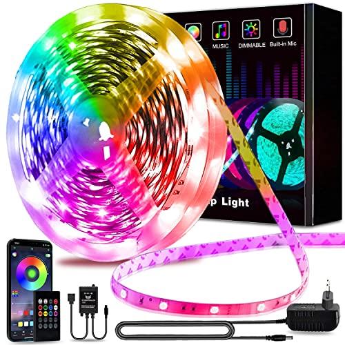 Led Strip 5m, L8star Led Streifen Farbwechsel Led Lichterkette Rgb Clever Led Bänder Strips mit Bluetooth und 24 Tasten IR-Fernbedienung Kontroller Sync zur Musik Led Leiste