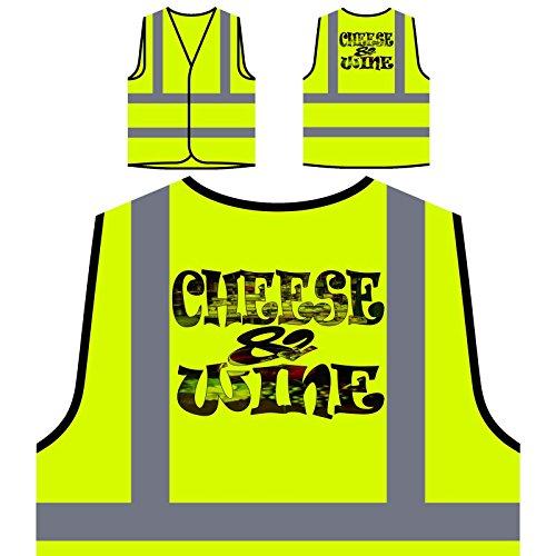Bandera de queso y vino de Francia Chaqueta de seguridad amarillo personalizado de alta visibilidad u323v