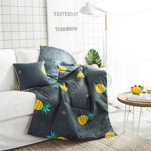 GonFan Viajes Manta Almohada Multifuncional Coche de la Almohadilla del edredón Doble finalidad Oficina del Amortiguador del sofá cálido edredón Almohada edredón (Color : F, Size : 50x50cm)