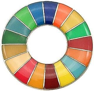 BELTI Broche de los Objetivos de Desarrollo Sostenible Insignia del Arco Iris de los ODS de Las Naciones Unidas