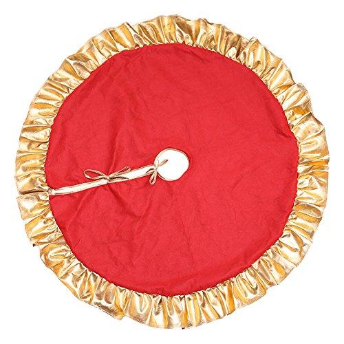 Da.Wa 1X 90cm Rojo Árbol de Navidad Falda Pie de árbol de...