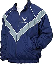 DSCP USAF Air Force Jacket Workout Jogging Windbreaker Blue Uniform Rain Coat PT USGI
