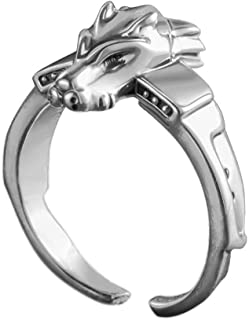 Anime Digimon Adventure Tri MetalGarurumon 925 Sterling Silver Ring Gift (Silver)