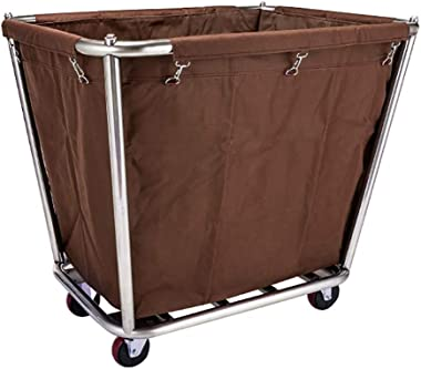 CFSAFAA Trolley Work Home Cart Tool Mobile Linen Car for Hotel/Lobby Detachable Stainless Steel Storage Cart with Universal W