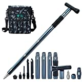 multi tool outdoor Self Defense Stinger stick Weapon Tactical Trekking pole Alpenstock Hiking Camping Climbing equipments,with Pocket for Camping, Hiking, Backpacking, Emergency etc TrekkingPole