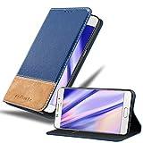 Cadorabo Hülle für Samsung Galaxy A5 2016 in DUNKEL BLAU BRAUN – Handyhülle mit Magnetverschluss, Standfunktion & Kartenfach – Hülle Cover Schutzhülle Etui Tasche Book Klapp Style