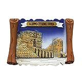 MUYU Magnet Imán para Nevera con diseño 3D de Alepo Citadel Syria Souvenir, decoración para el hogar y la Cocina, imán para Nevera Siria.