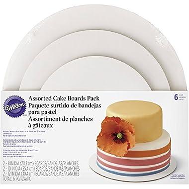 Wilton 2104-6066 3-Tier Assorted Cake Board Set