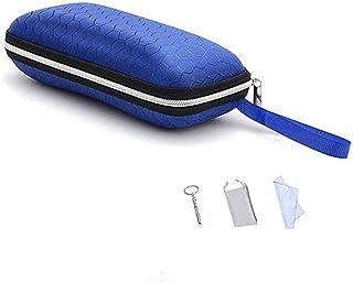 Zipper Eyeglasses Case, Honeycomb Glasses Sunglasses Case Box Protector for Men & Women or Children