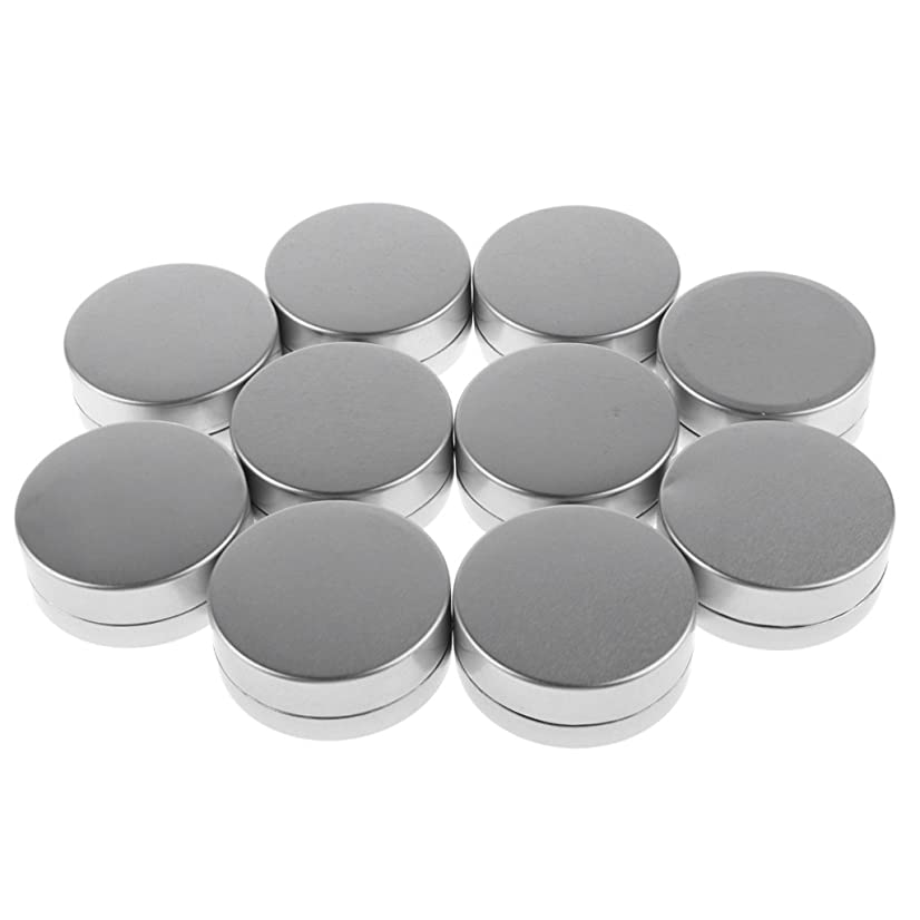 トロピカルライド送料Baosity 10g 小型 空 ケース ラウンド 化粧品 クリーム リップクリーム 空 詰め替え 容器 蓋付き 10個入り
