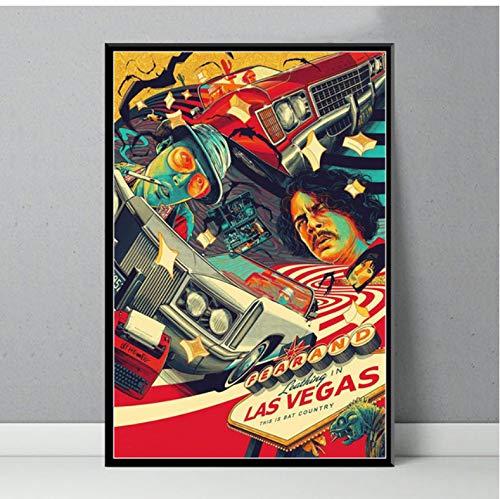 NOT Miedo Y Asco En Las Vegas Carteles E Impresiones De Películas Clásicas Pintura sobre Lienzo Cuadros En La Pared Resumen 50 × 70 Cm Sin Marco