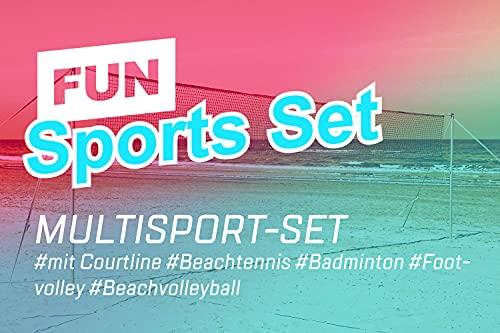 Funtec Fun Sports Set - Beachvolleyball- und Multisport-Set