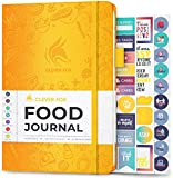 Clever Fox Food Journal - Daily Food Diary, Meal Planner to Track Calorie and Nutrient Intake, Stick to a Healthy Diet & Achieve Weight Loss Goals. Undated - Start Anytime. A5 Hardcover - Amber Yellow