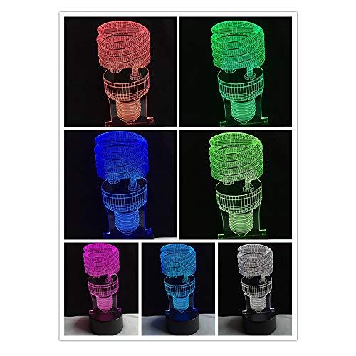 Lámpara de mesa 3D Juguete para niños Regalo Kid Sleep n Day Regalo Sensor de color USB Mesa escritorio acrílico Luz de dormir Lámpara de vacaciones