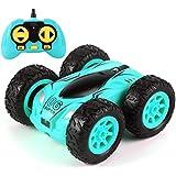 Mini Stunt Coche Teledirigido Rotación 360 RC Car Crawler Twisting Vehicle 2.4GHZ Radiocontrol Teledirigido Drift Car Juguete Todoterreno con Luces para Niños Adultos Regalo,Azul