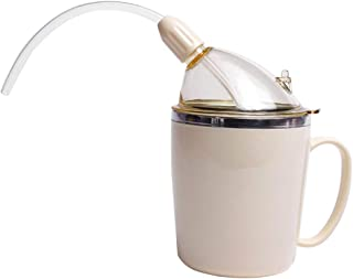 Tenlacum Schnabeltasse für Erwachsene mit Strohhalm für Flüssigkeiten, Wasser, für behinderte ältere Menschen mit schwache...