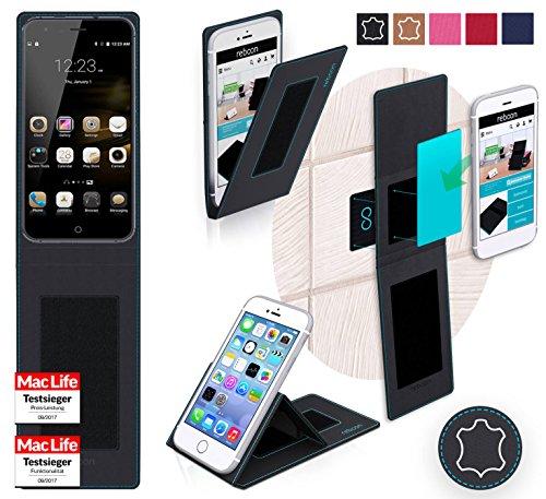 Hülle für Ulefone Paris Lite Tasche Cover Hülle Bumper | Schwarz Leder | Testsieger