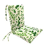Plow & Hearth Polyester Classic Rocking Chair Cushions with Ties - Seat: 21 @ Front, 17 @ Back x 19 x 2.5 Back: 16 x 20 x 2.5 Leaves