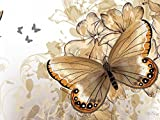 Butterfly Rhapsody -Oil Painting On Canvas Modern Wall Art Pictures For Home Decoration Wooden Framed (20X16 Inch, Framed)