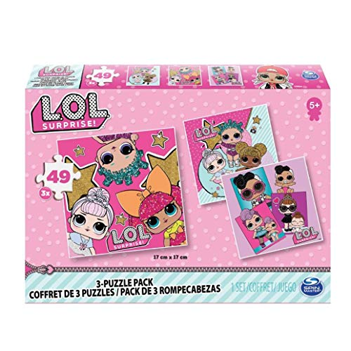 Cardinal Games   L.O.L. Surprise 3 Pack of Puzzles, Multicolor, 6052478