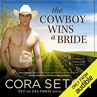The Cowboy Wins a Bride                   Written by:                                                                                                                                 Cora Seton                               Narrated by:                                                                                                                                 Amy Rubinate                      Length: 6 hrs and 25 mins     Not rated yet     Overall 0.0