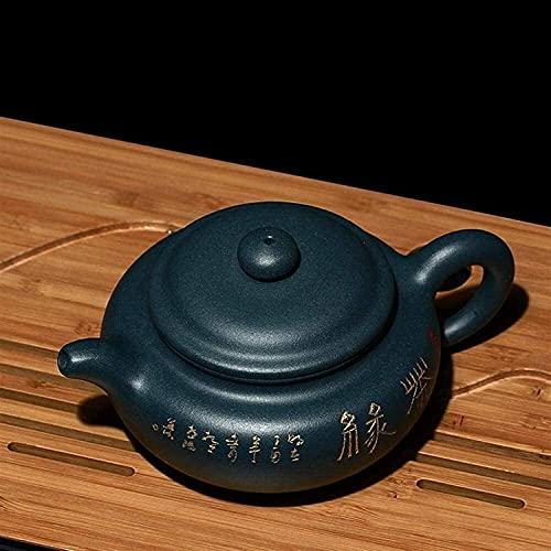 ZQADTU Tetera de Arcilla púrpura 230Ml Tetera de Arcilla púrpura Pintada a Mano Vintage Zisha Teteras de té Verde Exquisita Tetera